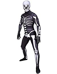 Yacn Fortnite Disfraz Ropa Cráneo Trooper Cospaly Adulto, Bata Spandex Zentai