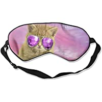 Cat With Purple Glasses Sleep Eyes Masks - Comfortable Sleeping Mask Eye Cover For Travelling Night Noon Nap Mediation... preisvergleich bei billige-tabletten.eu