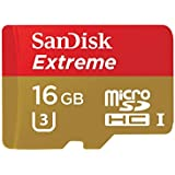 SanDisk Extreme Carte Mémoire MicroSDHC 16Go FFP jusqu'à 90Mo/s, Classe 10, U3