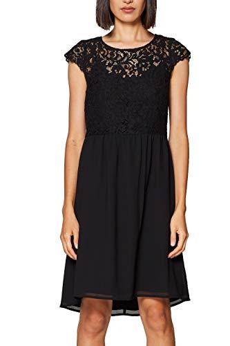 ESPRIT Collection Damen Kleid 128EO1E031 Schwarz (Black 001), Herstellergröße: 36