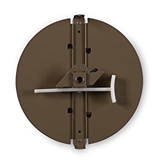 Accord Ventilation 34312BR 12-inch Round Butterfly Ceiling Damper, Brown