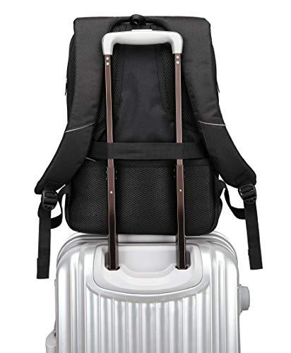 Fur Jaden 20L Black Anti Theft Bag 15.6 Inch Laptop Backpack with USB Charging Port Image 7