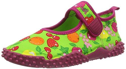 Playshoes Aquaschuhe, Badeschuhe Früchte mit höchstem UV-Schutz nach Standard 801, Ciabatte da spiaggia/piscina bambina, Verde (Grün (original 900)), 30/31