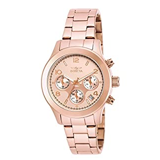 Invicta 19218 Angel Reloj para Mujer acero inoxidable Cuarzo Esfera oro rossa