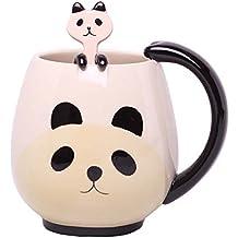 Taza de la panda de la Copa Conjunto con Little Spoon colgante