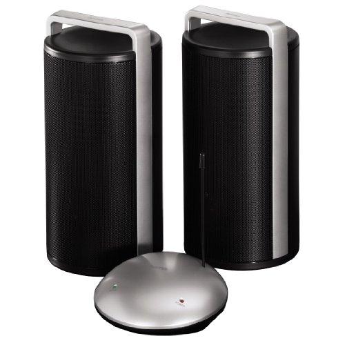 Wireless-stereo-wireless-system (Hama Stereo Funklautsprecher Funkboxen, kabellose Audio-Signalübertragung, Reichweite bis zu 100 m)
