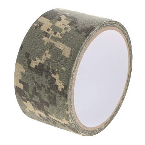 perfk Outdoor Klebeband Gewebeband Camouflage Isolierband selbstklebendes Schutzband für Kameras Objektive Fotografie Ausrüstung - Digital Camouflage