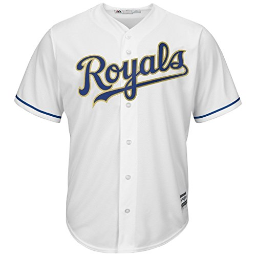 Majestic Kansas City Royals Cool Base MLB Alternate Home Bianco