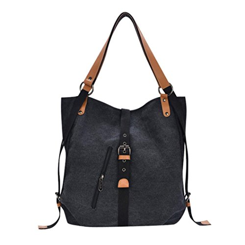 OYSOHE Damen Canvas Rucksack, Vintage Weibliche Hobos Schulter Taschen Handtasche Umhängetaschen