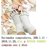 Malloom nuevo dedos del pie alineación hombres mujeres calcetines de algodón tendón de estiramiento aliviar el dolor calcetines (2 pcs)