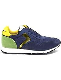 Voile Blanche Scarpa Uomo Liam Dash 9133 Sneaker camoscio Blu E8102 6fc0b5df437