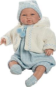 Berbesa- Muñeco bebé Saoro, con Traje Azul y Chaqueta (5203)