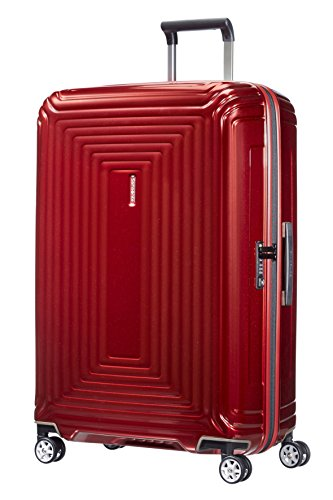 Samsonite neopulse - spinner l valigia, 75 cm, 94 l, rosso (metallic red)