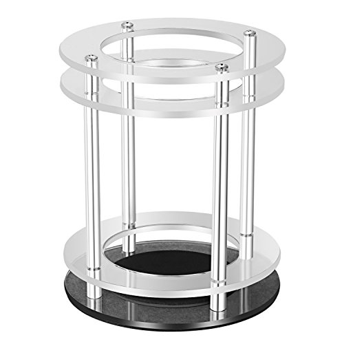 Neewer Lautsprecher-Schutz für Amazon Echo UE Alexa Boom-Lautsprecher mit Acrylglas-Ringe, Aluminiumlegierung Säulen, Edelstahl Schrauben, weiche Kissen, erhöhte Festigkeit und Stabilität um Echo zu schützen (transluzent)