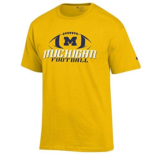 Champion Universität von Michigan Wolverines Fußball T Shirt NCAA gelb Größe L (Wolverine Herren Gelb)