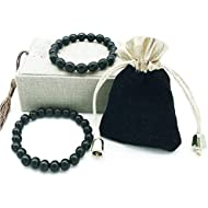 Black Tourmaline Crystal Bracelet Anti Anxiety Bracelet Tourmaline Crystal Bracelet for Women and Men