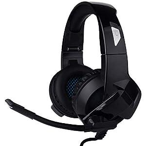 Yiman Gaming Headset faltbar, Geräuschunterdrückung Stereo Bass grün