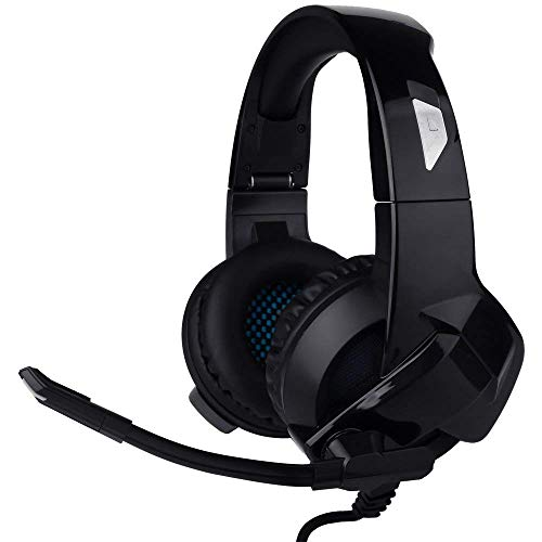 YIMAN Gaming Headset faltbar, Noise Cancelling Stereo Bass Surround Gaming Kopfh?rer mit Mikrofon und Steuerung f¨¹r PS4, Xbox One, Nintendo Schalter, 3,6 mm Pin f¨¹r Smartphone, Laptops, Tablet, Computer