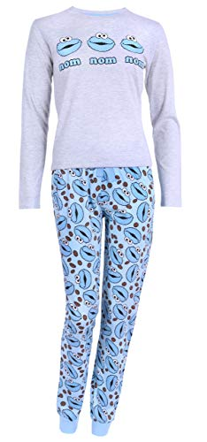 Graues Pyjama Cookie Monster Sesame Street M - Herren-cookie Monster-pyjama