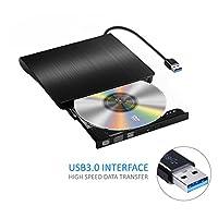 Yododo Externes USB 3.0 DVD/CD laufwerk, DVD-RW DVD /CD Brenner für Macbook, Macbook Pro, Macbook Air, iMac OS, Windows Vista/XP/7/8/10 / Desktop Notebook -Schwarz ( Neue Version )