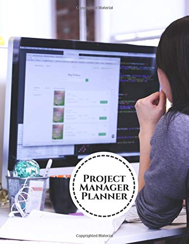 Project Manager Planner: Perfect Manager Organizer, Meeting Schedule Attendees, Execution Plans, Cost Control, Make Actions Notes, Follow Up Item, Reminder Notes, 8.5
