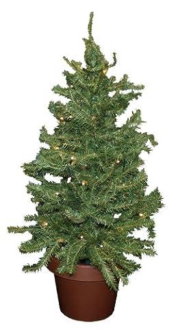 Idena 8582019 - Weihnachtsbaum im Topf mit 35 warm weißen LED, ca. 55 cm (Warm Weiß Led Weihnachten Tree)