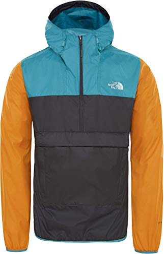 THE NORTH FACE Fanorak Kapuzenjacke Herren anthrazit/gelb, XL Warm Up Windbreaker Jacken