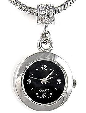 Timest - Bead Uhr für Armbänder und Ketten Farbe Schwarz Rund Analog Quarz EBA0004