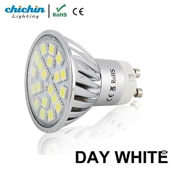 ChiChinLighting ® Blanc pur 4 W Gu10 LED Ampoule Lampe Super Lumineux Gu10 Spot Grand Angle Lampe de projecteur