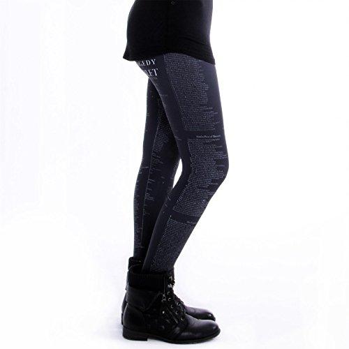 cosey - bedruckte bunte Leggings (Einheitsgröße) verschiedene Designs Hamlet Schwarz