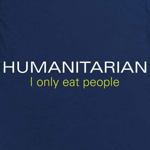 Humanitarian T-shirt, Uomo Blu navy