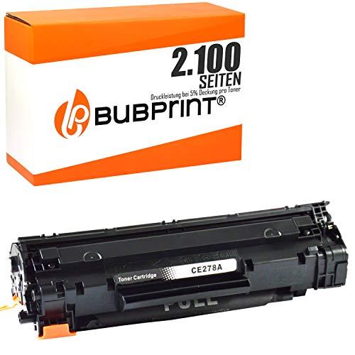 Bubprint Toner kompatibel für HP CE278A 78A für LaserJet Pro M1536DNF M1537DNF M1538DNF M1539DNF MFP P1566 P1600 P1606DN P1607DN P1608DN P1609DN Schwarz