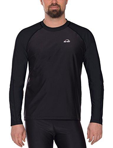 Lycra-hemd (iQ-UV Herren UV 300 Shirt Loose Fit LS T, Black, 4XL (60))