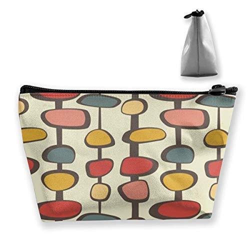 Mid-Century Modern Cosmetic Makeup Bag/Pouch/Clutch Travel Case Organizer Storage Bag