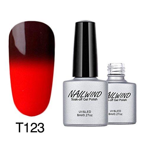 kalorywee Soak-Off-Gel-Nagellack, Farbe mit Farbwechsel-Lack UV-LED-Maniküre, 8ml Nail Art Dekoration -