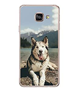 PrintVisa Designer Back Case Cover for Samsung Galaxy A5 A510 (2016 Edition) (dog waiting beach side look)