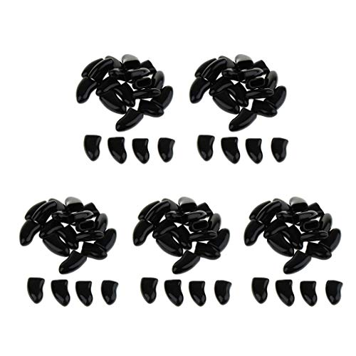 perfk 100 Stück weiche Krallenkappen für Hunde und Katzen - Schwarz, XL -