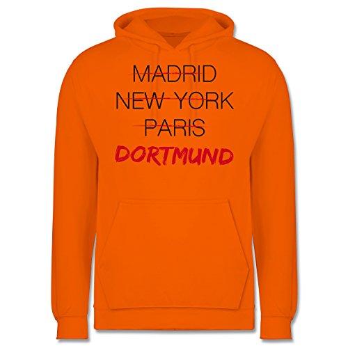 Städte - Weltstadt Dortmund - Männer Premium Kapuzenpullover / Hoodie Orange