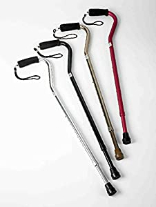 Offset Walking Stick Cane in Black, Copper, Pink & Silver Mobility and Stability Equipment