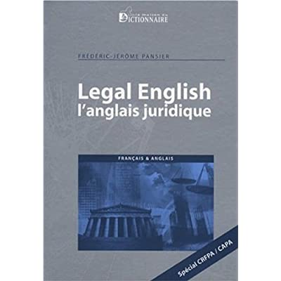 Legal English : L'anglais juridique