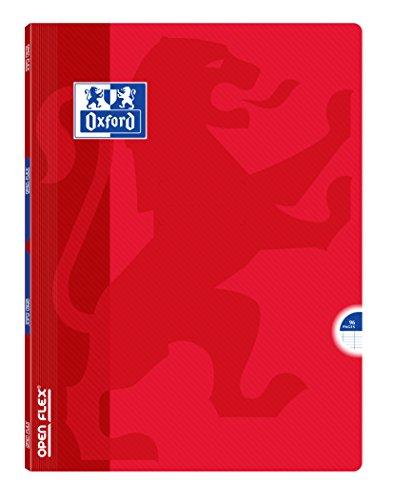 Oxford Openflex-Notizbuch, Polypropylen 96Seiten, 24x 32cm rot