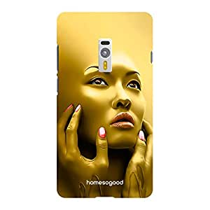 HomeSoGood Golden Face Of Sorrow 3D Mobile Case For OnePlus 2 (Back Cover)