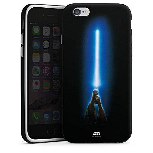 Apple iPhone 7 Hülle Case Handyhülle Star Wars Merchandise Fanartikel Jedi Lightsaber Silikon Case schwarz / weiß