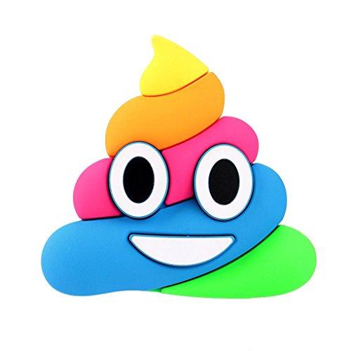 Bunte Lustige Karikatur Emoji Power Bank, Gusspower Cartoon Emoji 8800mAh Portable USB External Akku Ladegerät Power Bank Für Smartphone- inklusive Micro USB-Ladekabel (Regenbogen Poop Emoji)