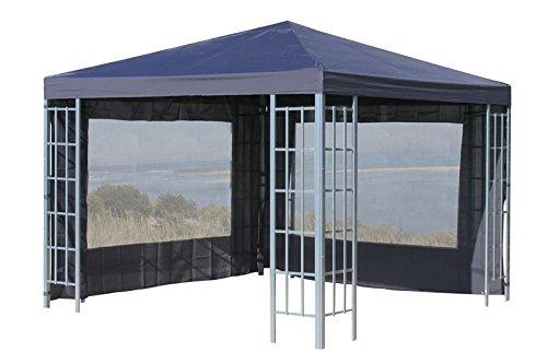 2 Seitenteile mit PVC Fenster zu Aluoptik Pavillon 3x4m Anthrazit