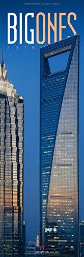 Big Ones 2019, Wandkalender / Panoramakalender im Hochformat (33x100 cm) - Architekturkalender mit Hochhäusern / Wolkenkratzern mit Monatskalendarium