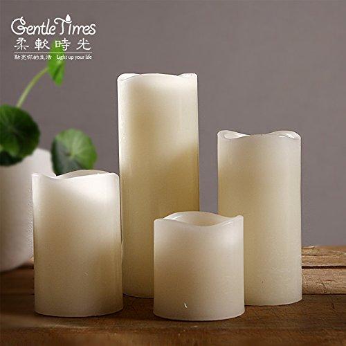 qwer Luz de control remoto electrónico cera de vela romántica Emulación de LED Velas adornos de boda , cena con velas 5*5cm de diámetro