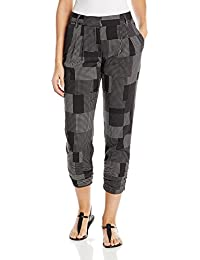 DKNYC Women's Ruched Leg Pleat Front Pant
