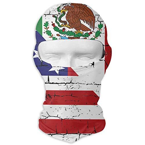 keiwiornb Balaclava Windproof Ski Mask-USA Mexico Flag Balaclava Face Mask Hood Outdoor Sport Hat for Ski,Cycling,Motorcycling,Climbing
