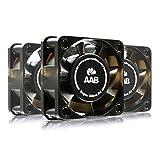 AAB Cooling Super Silent R4 - Un Silencioso y Muy Efectivo Ventilador 40mm con 9V Adaptador | Ventilador de Portatil | Fan PC | Ventilador Externo | 7,35 m3/h | 3200 RPM - Conjunto de 3 Piezas